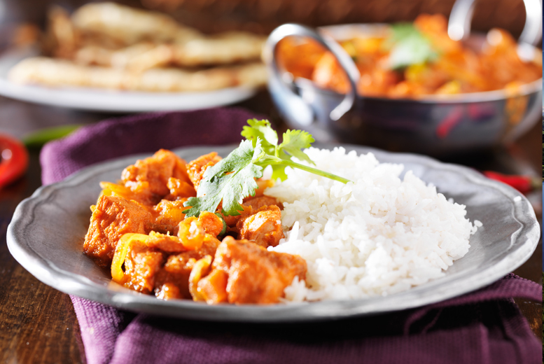 £14 for an Indian meal for 2 including rice and a half pint of beer each, or £28 for 4 people at Chutney Restaurant - save up to 43%