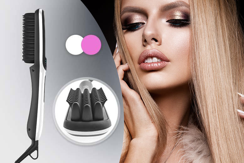 £23 instead of £84.50 (from Hair Lovers) for a premium next gen hair straightening brush - choose from two colours and save 73%