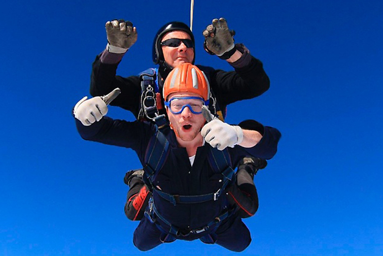 £129 instead of £200 for a 7,500ft tandem skydive experience, £179 for a 10,000ft experience with Skydive Academy, Shotton Colliery - save up to 36%