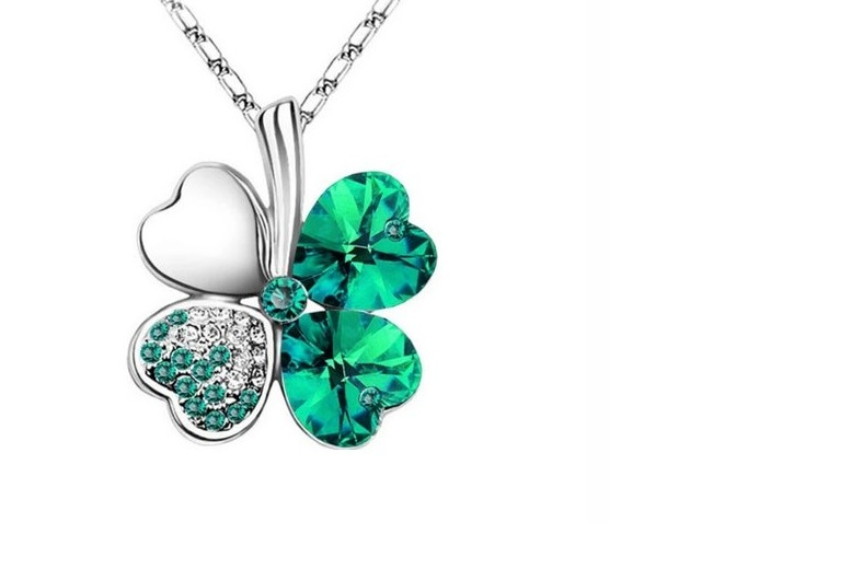 £8 instead of £37 for a four leaf clover crystal necklace from Frosted Jewels Limited - save 78%