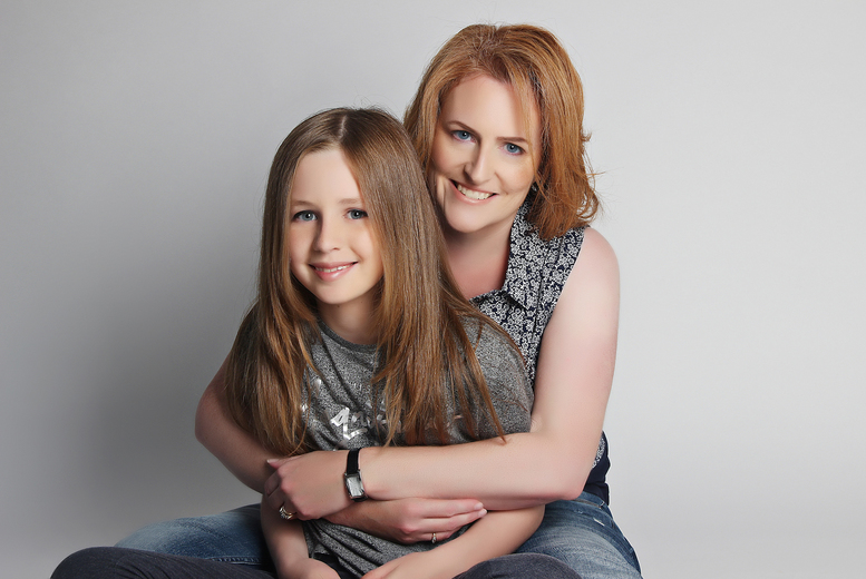 £12 for a mother and daughter photoshoot including a MAC makeover, Prosecco, two prints and afternoon tea at Love Exclusive - choose from two locations and save 70%