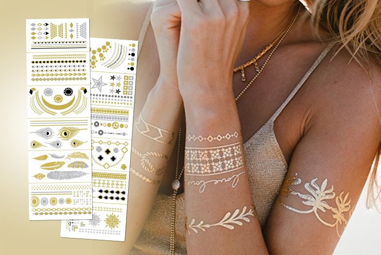 £8.99 instead of £29.99 (from Eden Personal Care) for a 6-piece set of temporary metallic tattoos - choose between 2 sets & save 70%