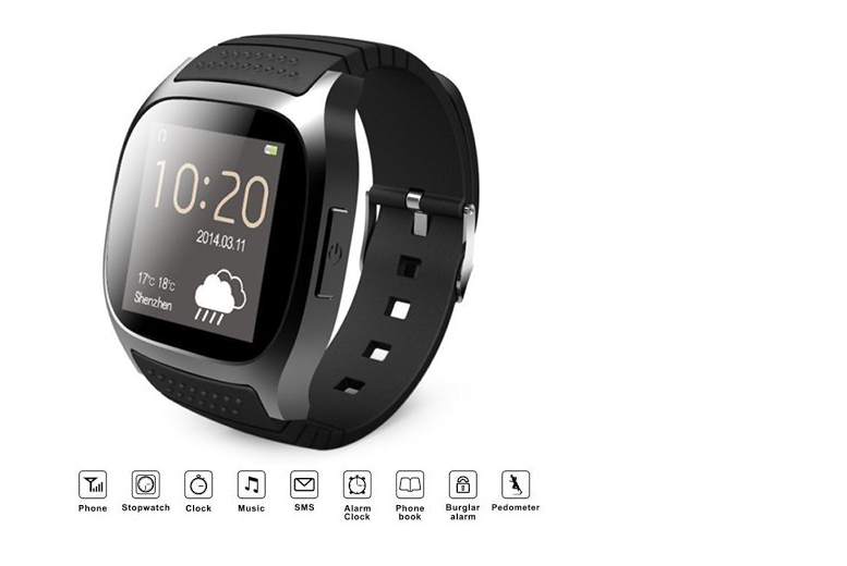 TLD Retail 9-in-1 Bluetooth Android Smart Watch (Black)