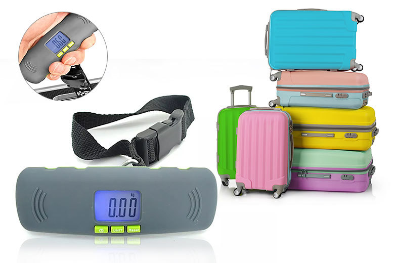 £3.99 instead of £19.99 (from Bells Bay) for a portable digital luggage scale with an LCD display - save 80%