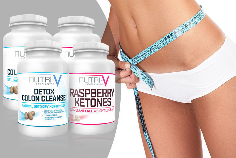 £15 instead of £97.01 (from Nutri-V) for a two-month supply* of raspberry ketones and 'detox colon cleanse' tablets - save 85%