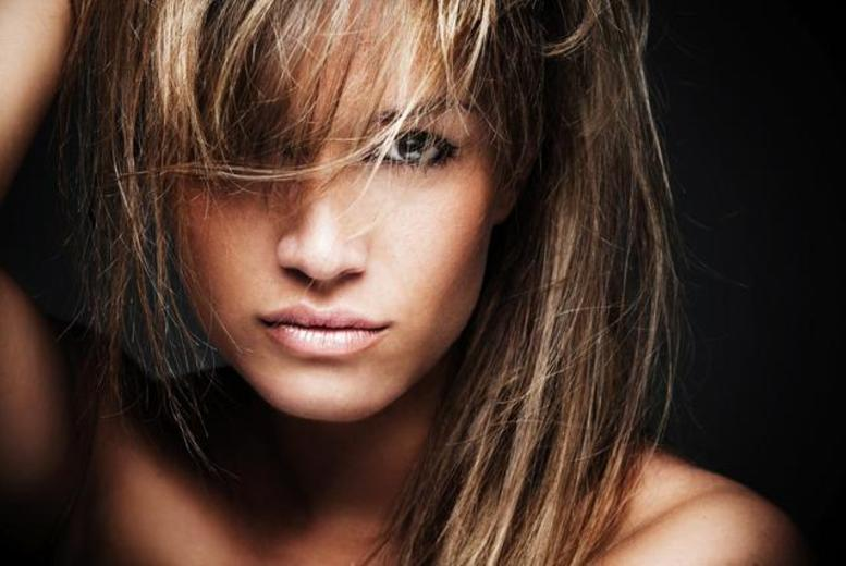 £19.99 for a half head of highlights or full head of colour plus a cut and blow dry with a senior stylist at SR Beautique, Glasgow - save up to 78%