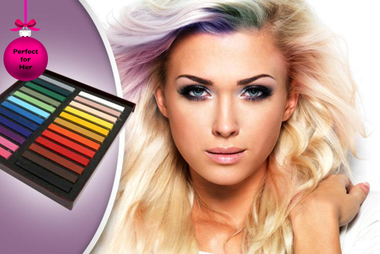 £7 instead of £26.99 (from SalonBoxed) for a 12-pack of hair chalks, £9 for a 24-pack - try a new look and save up to 74%
