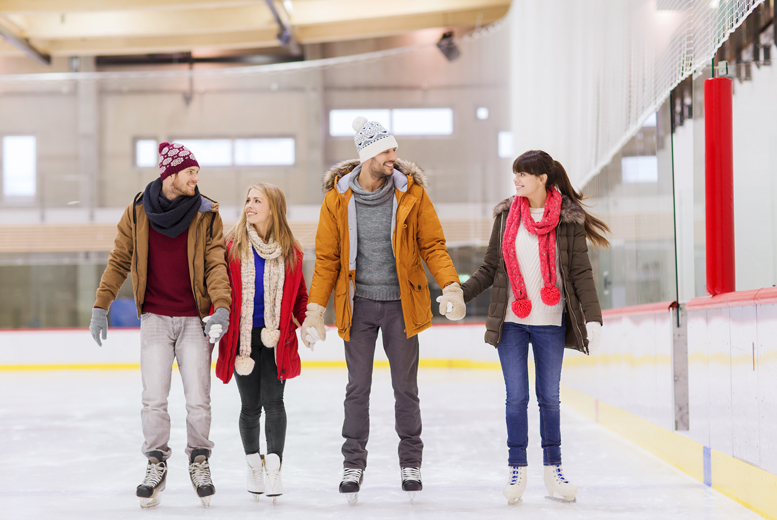 £6 for a session of ice skating for one, £12 for two or £17.50 for a family of four at Deeside Ice Rink, Flintshire - save up to 40%
