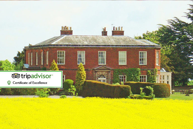 £69 (at Dovecliff Hall Hotel) for an overnight stay for two with cream tea and glass of fizz - save up to 40%
