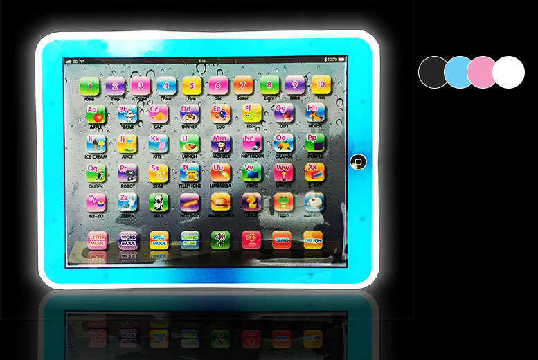 £5.99 instead of £17 (from A2B Shopping) for an LED children's tablet - choose from four colours and save 65%