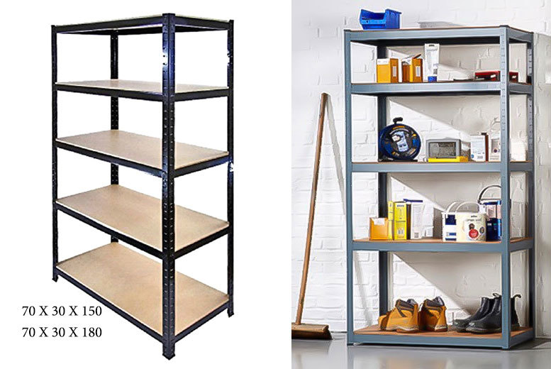 £22 instead of £121 (from UK Home & Garden Store) for a five-tier shelving unit, or £39 for a large unit - save up to 82%