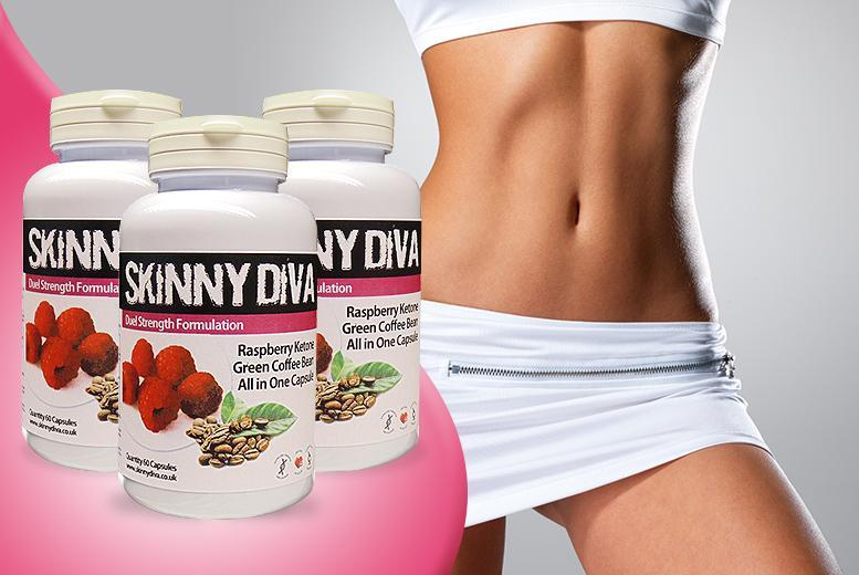 £12 (from Skinny Diva) for a 1-month* supply of raspberry ketone and green coffee, £24 for a 3-month* supply - save up to 60% + DELIVERY INCLUDED