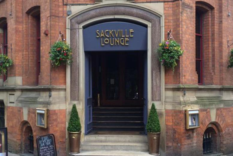 £20 instead of £43.60 for a 3-course Christmas lunch with wine for two people at Sackville Lounge, Manchester - save 54%