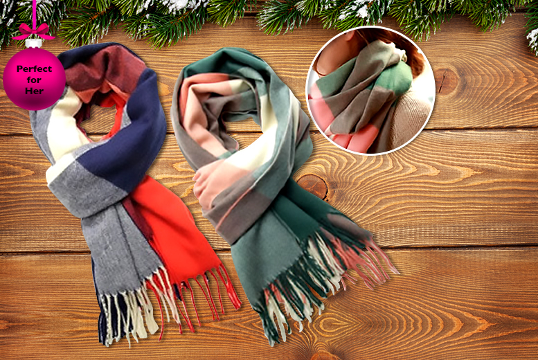 £6.99 instead of £36 (from Boni Caro) for a Lornna scarf in your choice of two colours - save 81%