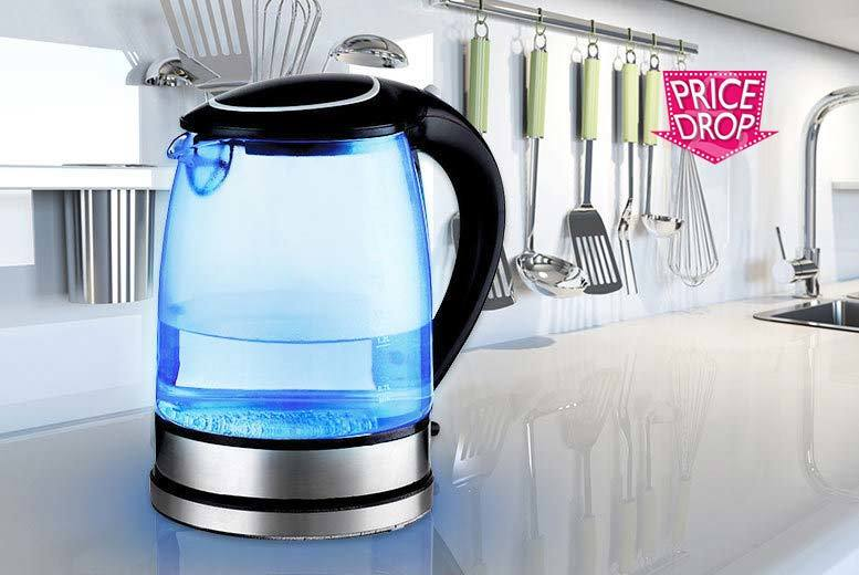 £17 instead of £45 (from Sashtime) for an LED glass kettle - choose white or black and save 62%
