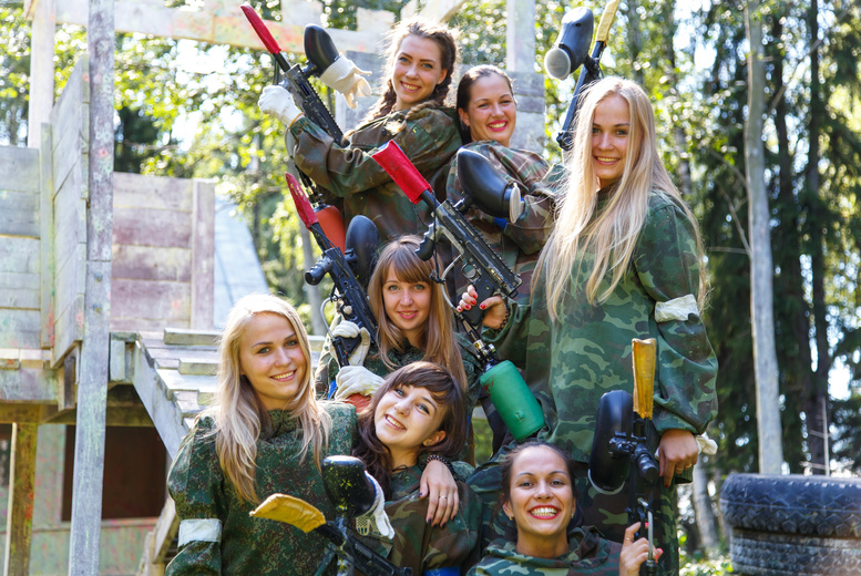£5 instead of £100 for a paintballing experience for five people, £9 for ten people, or £16 for twenty people from Skirmish Paintball Games, Edinburgh - save up to 95%