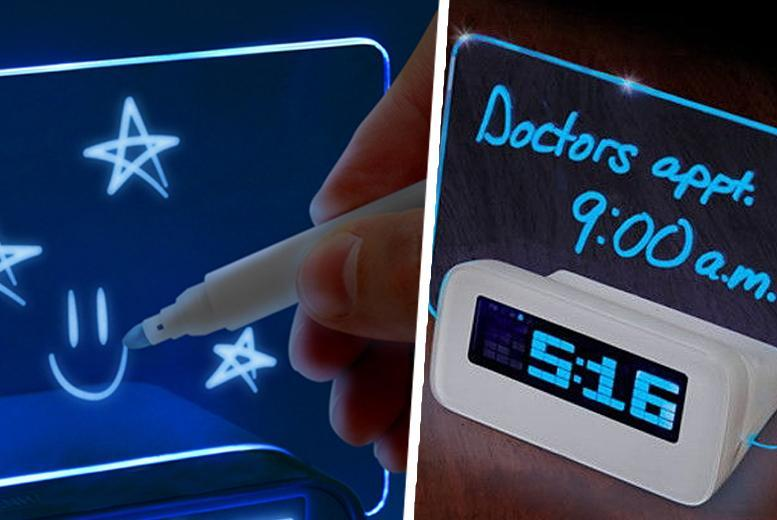 £8 instead of £19.98 (from Qualite) for a write-a-message LED alarm clock - save 60%
