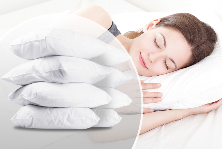 £15.99 instead of £98.99 (from Home Furnishings Company) for a pack of eight bounce-back pillows - save 84%