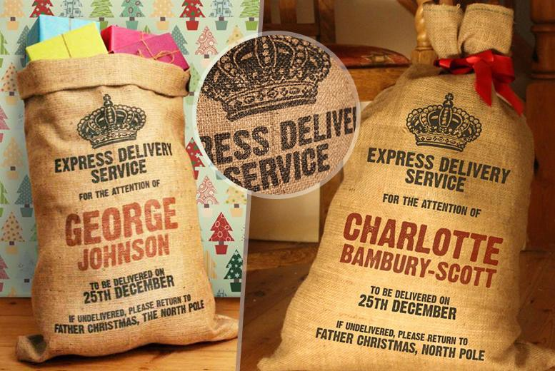 £6.99 instead of £21 (from The Handmade Christmas Company) for a personalised Christmas sack, or £12.99 for two - save up to 67%