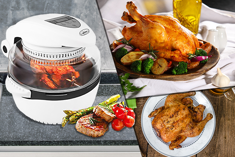 £69 instead of £146.99 for a Quest 11-litre digital air fryer and rotisserie from Wowcher Direct - save a sizzlin' 53%