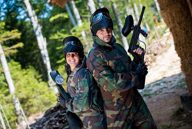 £5 for a full day of paintballing for up to 5 inc. lunch & 150 paintballs each, or £7 for up to 10 people with Project Paintball - save up to 90%