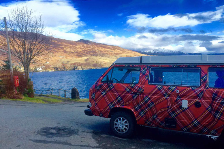 £239 instead of £475 for a VW camper three-night weekend hire, £249 for four-night midweek or £299 for seven nights with The Tartan Camper Co - save up to 50%