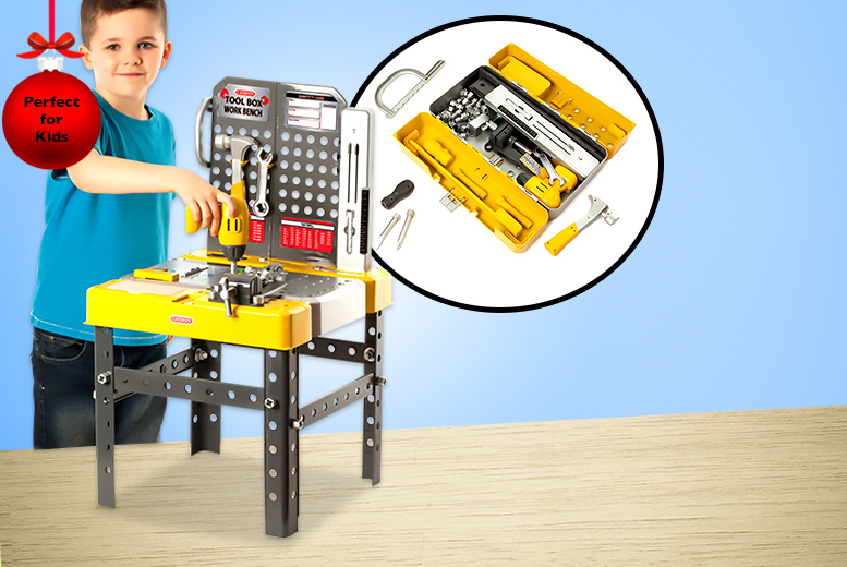 £16.99 for a Casdon kids' 60-piece tool box workbench from Wowcher Direct