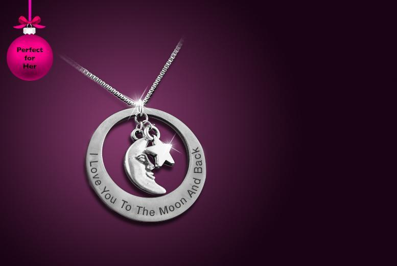 £8 instead of £50 (from Cian Jewels) for a stainless steel 'I Love You to the Moon and Back' necklace, or £10 with a personal engraving - save up to 84%
