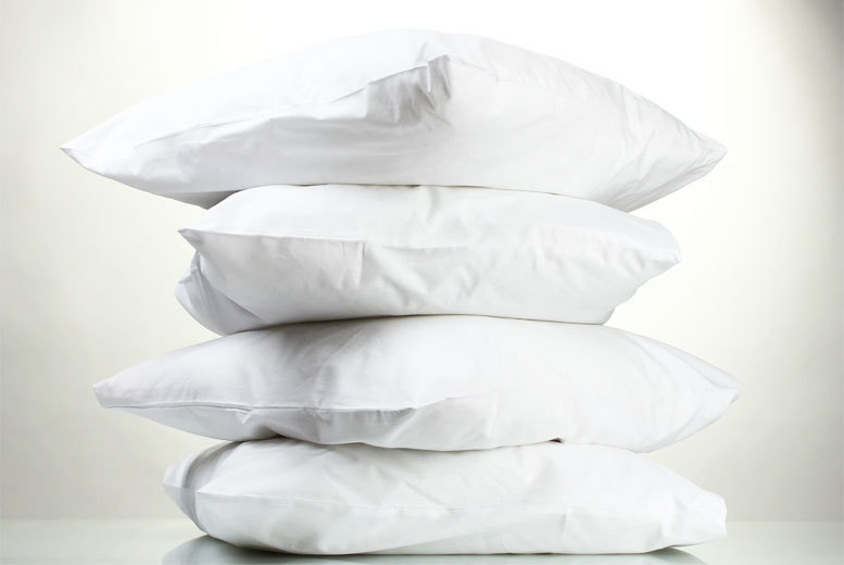 £17.99 instead of £127.99 (from Adam Linens) for four duck feather hotel quality pillows - save 86%