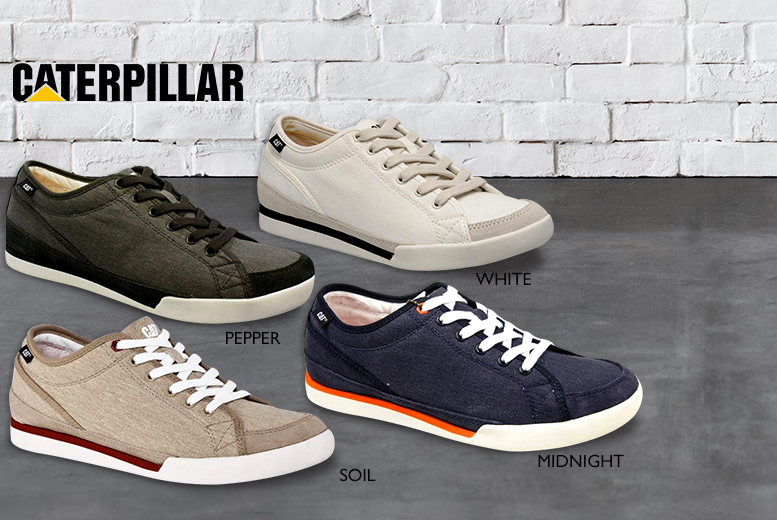 £13.99 instead of £60 (from iShoe) for a pair of men's Caterpillar canvas shoes - choose from 4 colours & save 77%