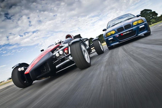 £86 for a 2½ hour supercharged Ariel Atom driving experience with Drift Limits