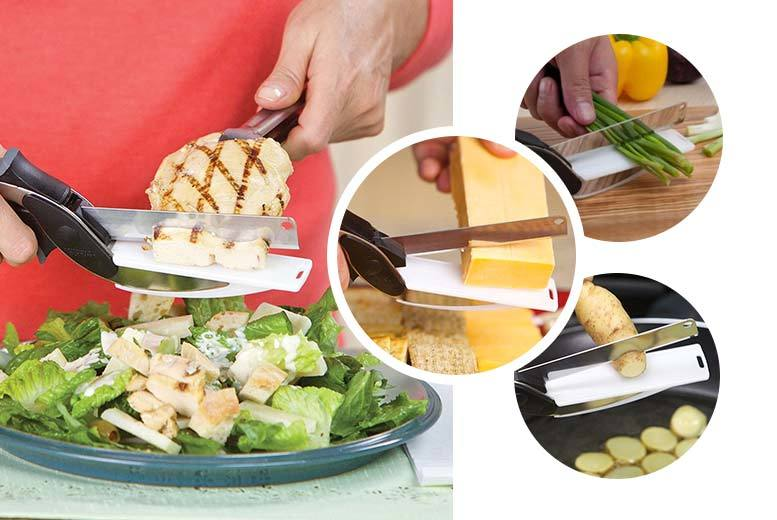 £5.99 instead of £24.99 (from Home Lounge) for a set of clever cutter 2 in 1 chopping scissors - save 76%