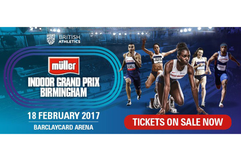 £18 for a concession ticket to the Müller Indoor Grand Prix 2017 on 18th February at Barclaycard Arena, £22 for an adult ticket from British Athletics - save up to 60%