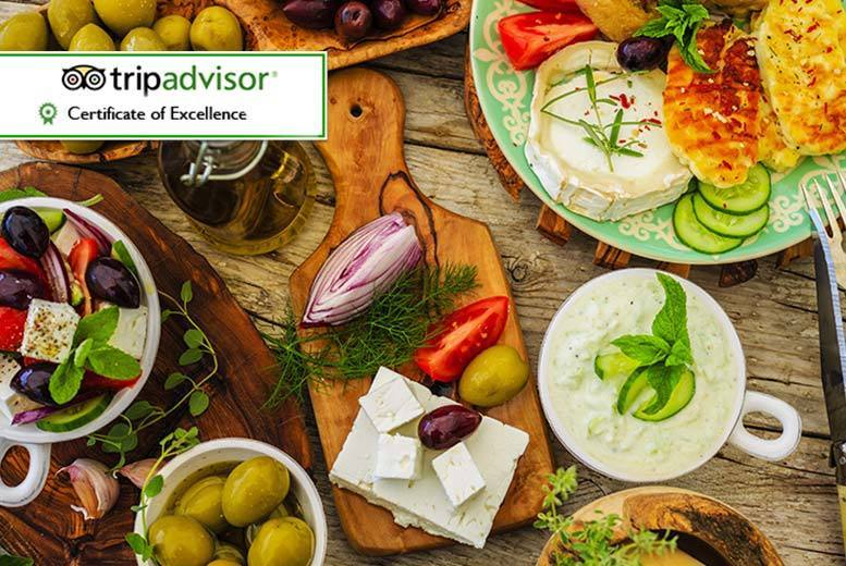 £24 for a Greek meal for two people including 15 mezze dishes and dessert, or £44 for four people at Bouzouki by Night, Manchester - save up to 61%