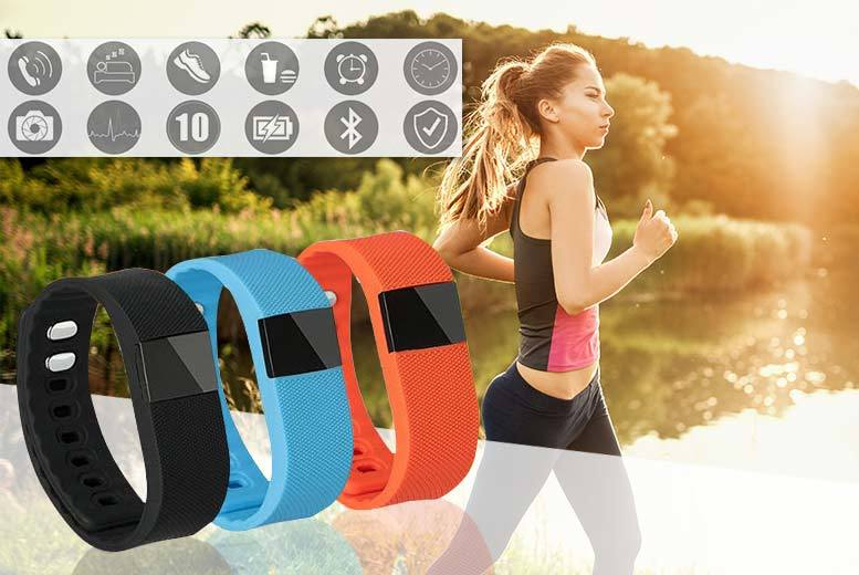 £14.99 instead of £99.99 (from Mobi Trends) for a 12-in-1 Bluetooth fitness tracker and fitness ebook - choose from black, blue or orange and save 85%