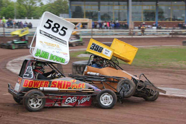 £14 for entry for two people to a day of stock car and banger racing, or £19 for a family ticket from Startrax - choose from two locations!