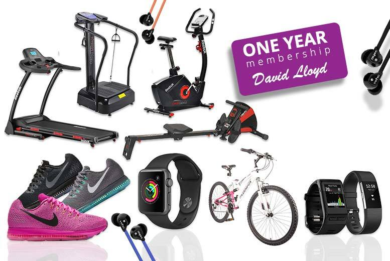 £10 for a Fitness Mystery Deal - One-Year David Lloyd Membership, Fit Bit, Apple Watch, Nike, Veho and more!