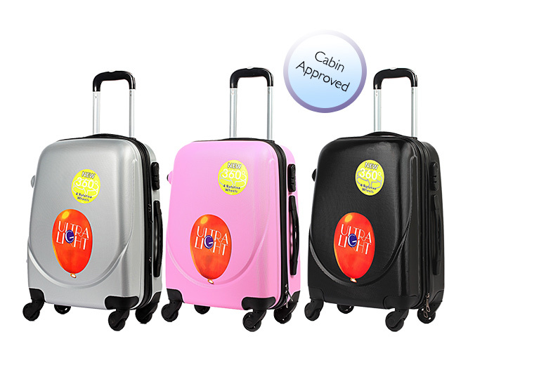 £14 instead of £65 (from Kequ) for a hard shell four-wheeled suitcase - choose from six colours and save 78%