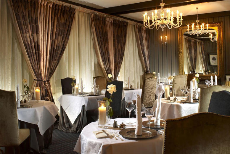 From £24 for a three-course two AA Rosette awarded lunch for two, or £55 for a three-course dinner for two at The Greenway Hotel & Spa, Gloucestershire - save up to 53%
