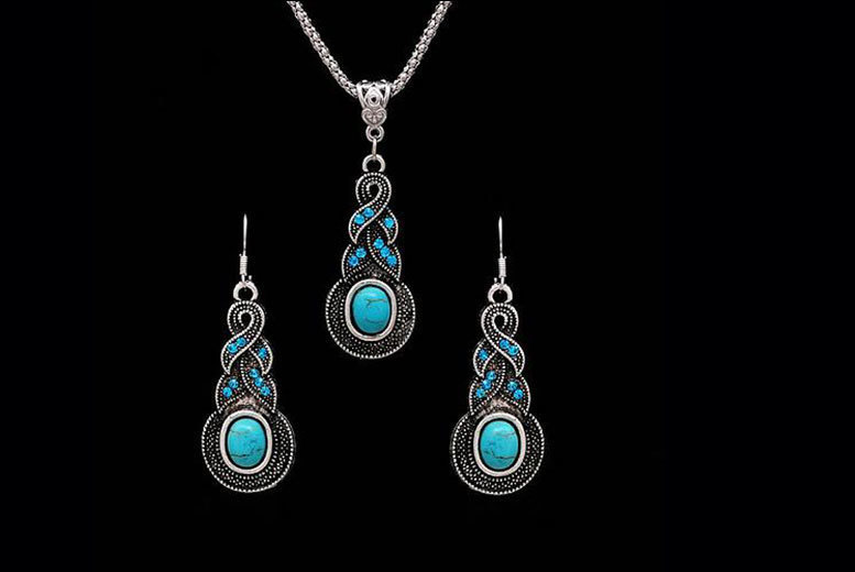 £10 instead of £75 (from Alvi's Fashion) for a Tibetan-style pendant necklace and earrings set - save 87%