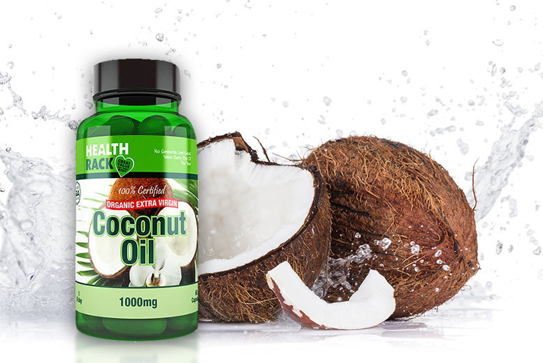 £6 instead £15 (from Health Rack) for a four-month supply* of organic extra virgin coconut oil capsules - save 60%