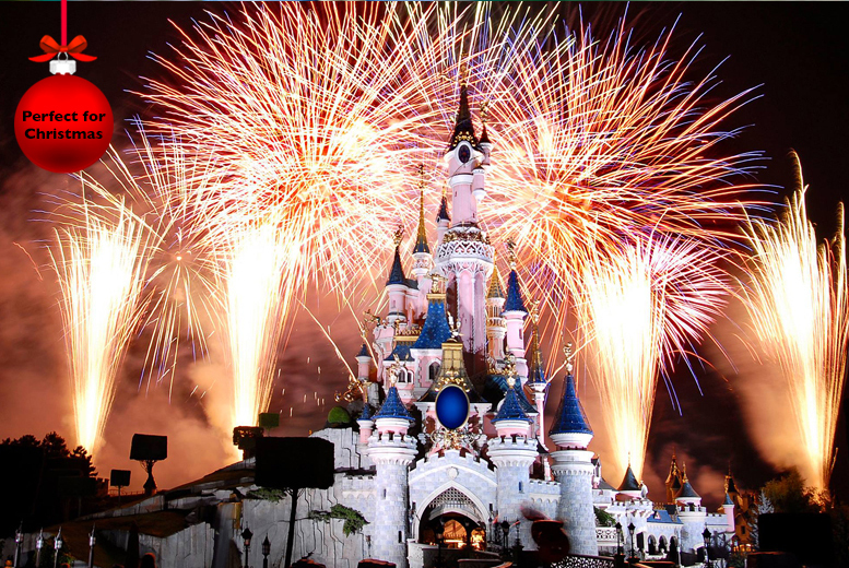 £109 for a Disneyland® Paris New Year's Eve trip inc. Disney® day pass and coach travel from 11 UK locations with Coach Innovations - save 36%