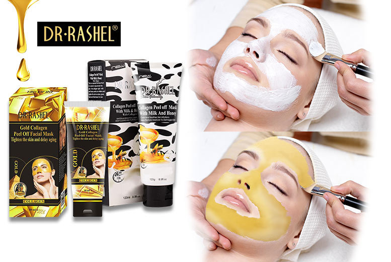 £6 instead of £29.99 (from Forever Cosmestics) for a peel off collagen face mask - select either milk and honey or gold and save 80%