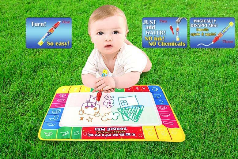 £2.99 instead of £22 (from Toy Meets World) for a magic doodle mat, £8.99 for a large doodle mat - let their imagination run wild and save up to 86%
