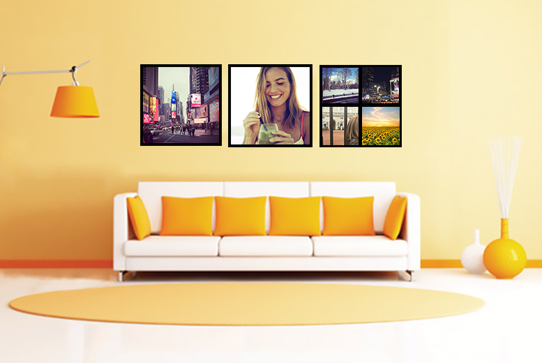 "£8 instead of £33.99 (from Dip Into Sales) for 12"" x 12"" Instagram or Facebook canvas, £11 for a 16"" x 16"" canvas - save up to a snap-happy 74%"