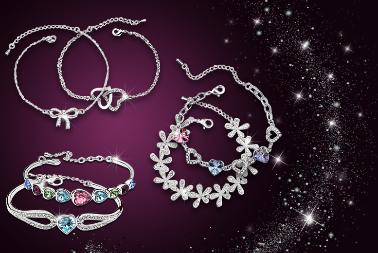 £12 instead of up to £140 (from Boni Caro) for 2 platinum-plated crystal bracelets - save up to 91%