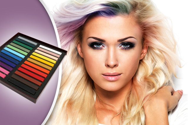 £9 instead of £49.99 (from Bo-Vida) for a pack of 24 coloured hair chalks - get funky and save 82%