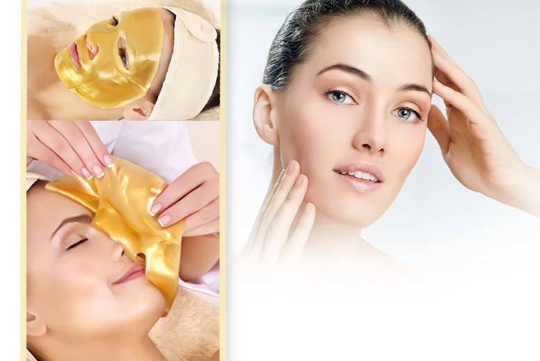 10 Gold Collagen Face Masks and Headband