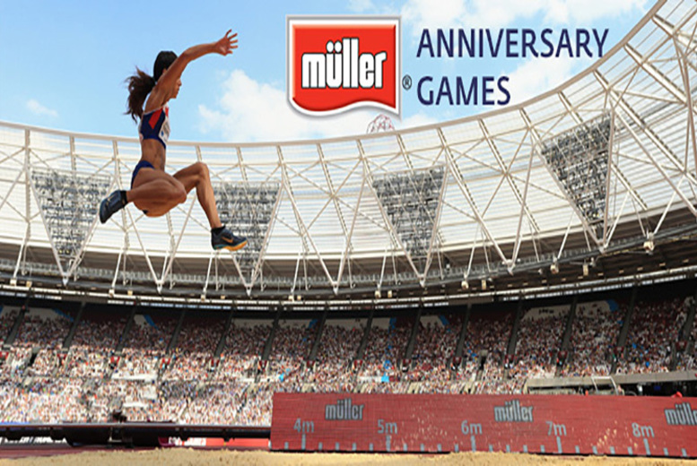 £12 for a concession ticket to the Müller Anniversary Games at Queen Elizabeth Olympic Park, £20 for an adult ticket from UK Athletics - save up to 64%