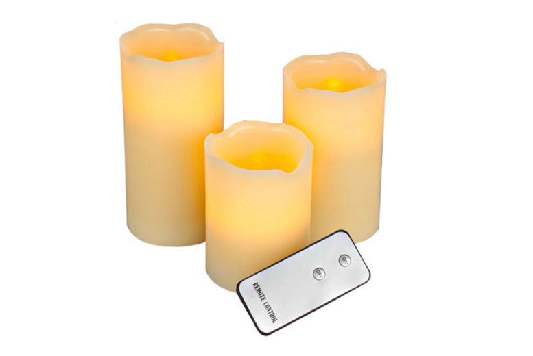 £9.99 instead of £17.99 for a set of three remote controlled LED candles from Ckent Ltd - save 44%